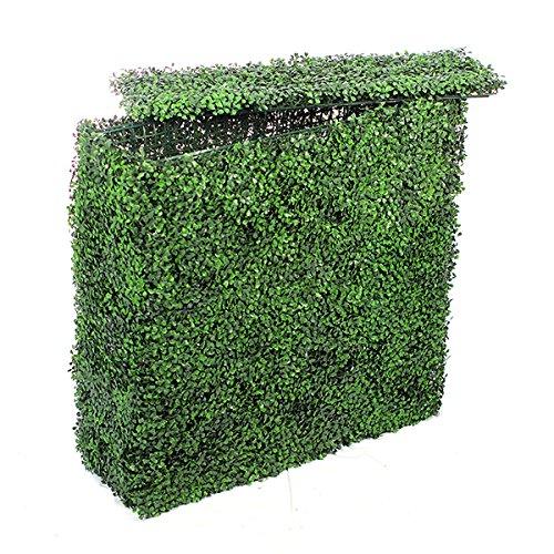 Jardin Artificiel - Muret de buis Artificiel Vert foncé - 100 cm
