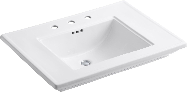 Kohler K-2269-8-0 Fireclay Ceramic Max 46% OFF Pedestal shopping Rectangular Bathroom
