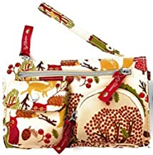 Lily Bloom Forest Owl in The Woods Kim Wristlet   7.5 X 4.5 IN