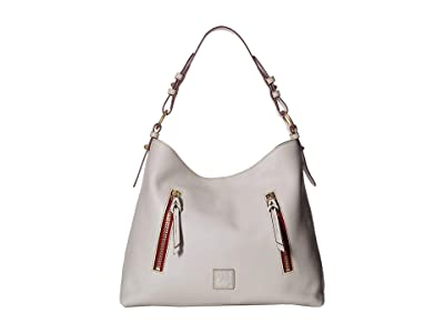 Dooney & Bourke Florentine Cooper Hobo (Ecru/Ecru Trim) Hobo Handbags
