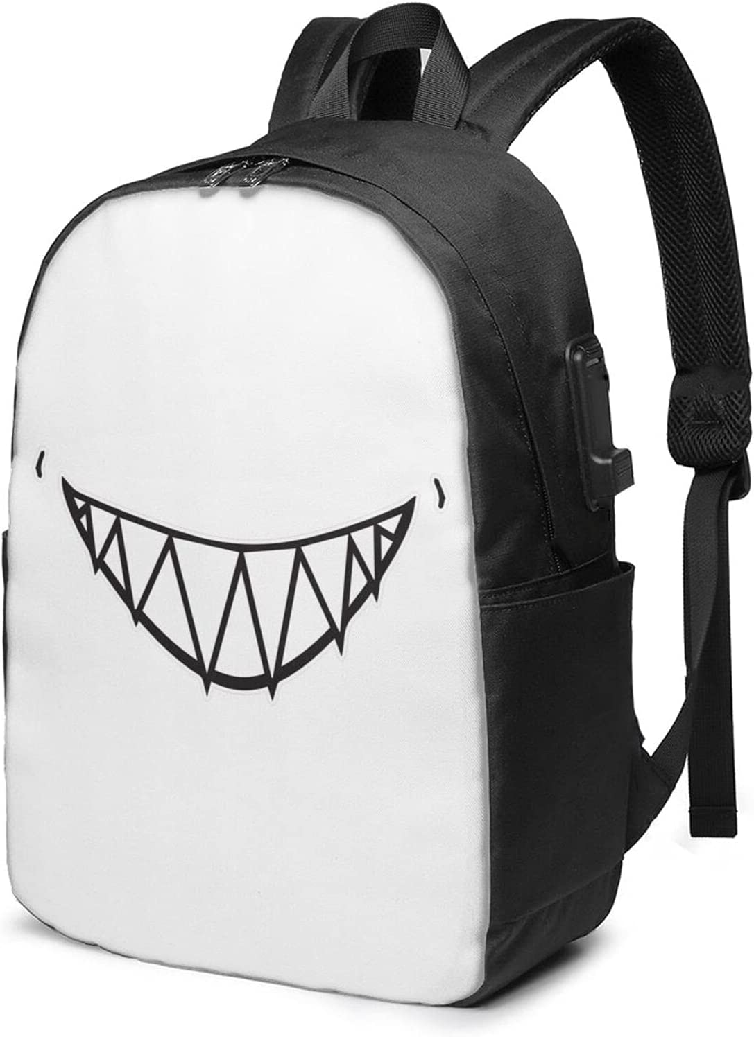 Halloween Mask Laptop Now on sale Backpack With Usb Super Special SALE held La 17 Inch Charging Port