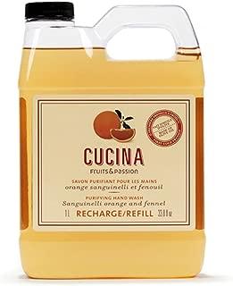Cucina Sanguinelli Orange and Fennel 33.8 oz Purifying Hand Wash Refill