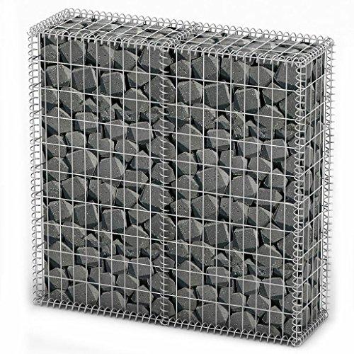 lingjiu Shopping Pierre Panier fil panier gabions 100 x 100 x 30 cm Fabriqué en acier galvanisé masc henma ? E : env. 10 x 5 cm, 30 x 20 CM (L x B)