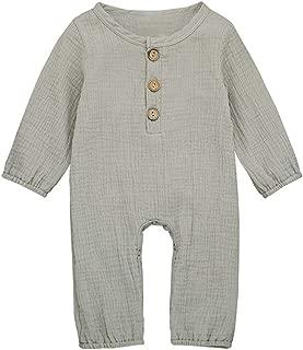 Janly Baby Romper for 0-24 Months Newborn Christmas 3D Deer Jumpsuit Baby Boys Girls Pajamas Infant Winter Warm Bodysuit Clothes