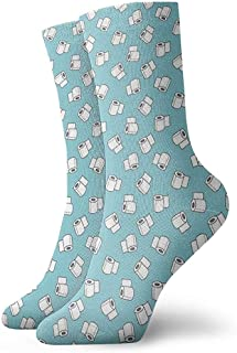 Dydan Tne, Niños Niñas Locos Divertidos Calcetines de Papel higiénico Calcetines Lindos de Vestir de Novedad