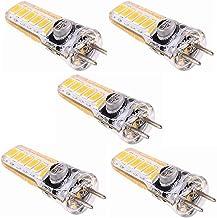 LED Lamp 5 Pcs,GY6.35 LED Bulb Light 3 Watts AC/DC 12V G6.35/GY6.35 Bi-Pin Base 20W Halogen Bulbs Non-Dimmable Green Produ...