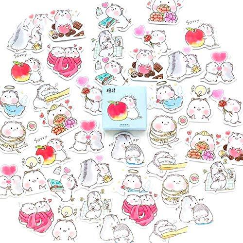 45 TEILE/PAKET Hamster Baby Label Aufkleber Dekorative Sticker Scrapbooking DIY Tagebuch Album Stick Label