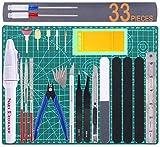 Gundam Tools Kit Gunpla Tool Set Modeler Basic Tool Craft Set Hobby Building Tools Kit for Professional Gundam Model Building, Repairing and Fixing