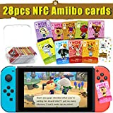 28 Pcs NFC Amiibo Cards for Animal Crossing New Horizons, NFC Amiibo ACNH Villager Cards for Switch/Switch Lite/Wii U