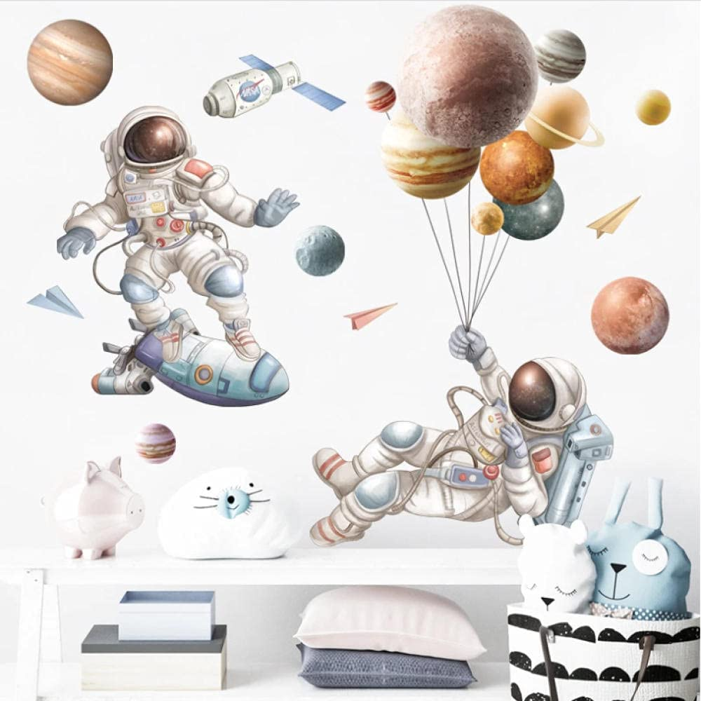 Xiaotaizinai Parkour Manufacturer regenerated product Astronaut Outer Space Kid for Stickers Low price Wall