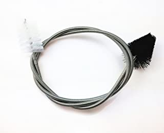 yueton Flexible Double Ended Black and White Nylon Long Brush, Hoses Bent Pipe Cleaning Brush, Aquarium Water Filter Pipe Air Tube Brush