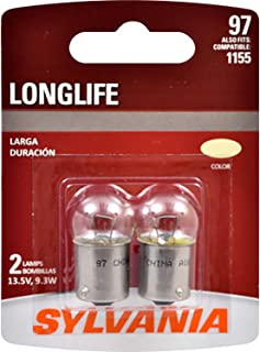 SYLVANIA - 97 Long Life Miniature - Bulb, Ideal for Interior Lighting – License Plate and More. (Contains 2 Bulbs)