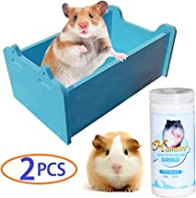 Chinchilla Dust Bath, Hamster Hideout, Dwarf Hamster Toys, Guinea Pig Potty, Gerbil House, Rat Litter Box, Mouse Sand Bath, Deodorize, Remove Greasy, Protect Hair, 2Pcs