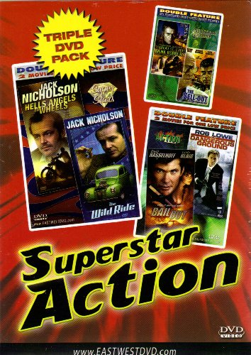 """Superstar Action""Hells Angels on Wheels+The Wild Ride+On Dangerous Ground+Bail Out+The Sell-Out+The Great St. Louis Bank Robbery[Triple DVD Pack & Double Feature]"