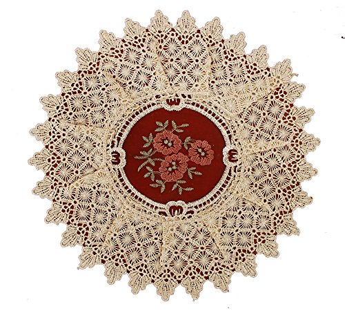 Simhomsen Set of 6 Small Lace Table Doilies, Vintage Look and Victoria Style, Round 12 inch, Customer Order