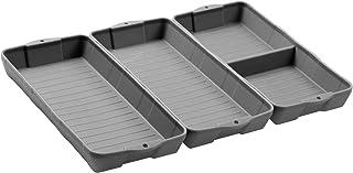 ورق پخت سیلیکون غیر استیک ، ZIP STANDING مجموعه قالب تخت سیلیکون ، جداکننده های سینی سیلیکون ، مناسب برای فر ، سرخ کن هوا برای ساده پخت ، ایمن در استفاده و تمیز کردن آسان. (3 خاکستری)
