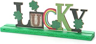 St. Patrick's Day Lucky Shamrock Table Signs, Desktop Centerpiece Ornaments Letter Happy StpatricksTable Sign, Green Irish...