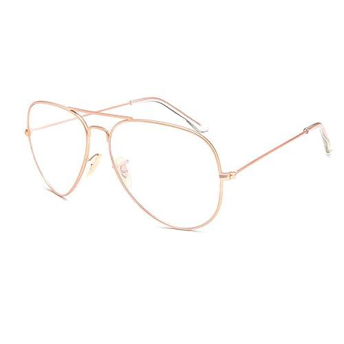 83476b3a25 Metal Frame Clear lens Aviator Glasses Metal Vintage Retro Fashion Glasses  Eyewear Unisex