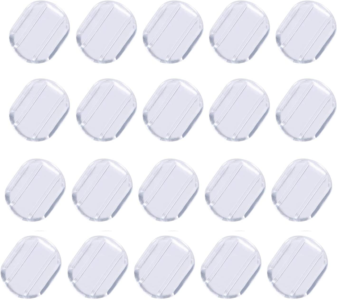 50Pcs Clear Soft Silicone Earring Pads Comfort Earring Cushion for Clip on Earrings, 8x10mm