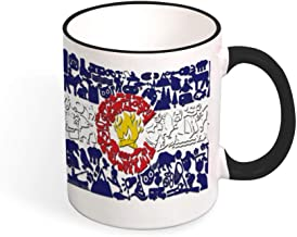 Beautiful Color Mug Mouth And Handle Colorado Caliber Snowboarding Flag tea cup coffee cup black-Color1