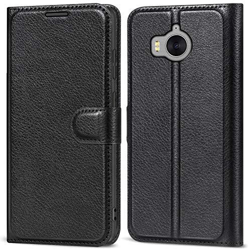 AOBOK Funda Huawei Nova Young Mya-L11, Flip Cover Carcasa Cubierta Multi Angle Shockproof Protectora de Carcasa con Soporte Plegable para Huawei Nova Young Mya-L11 Smartphone - Negro