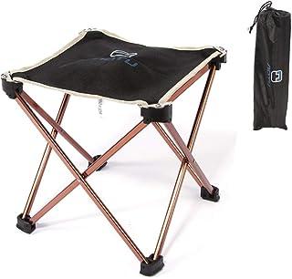 方形折叠露营椅-轻便耐用的户外沙滩便携袋-脚凳-露营,野餐,节日,花园,旅行车旅行,钓鱼,旅行,烧烤,黑色