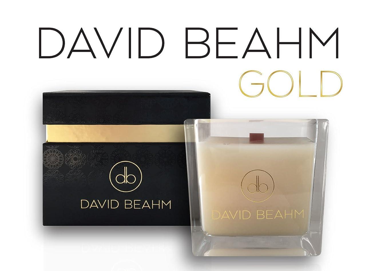 距離運営のヒープDavid Beahm Scented Candle「ゴールド」でギフトボックス