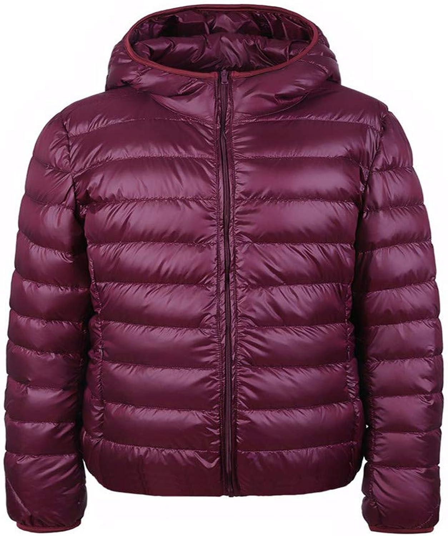 Dotoo Winter Ultra Light Women Hooded 90% White Duck Down Thin Slim Down Jacket Coat