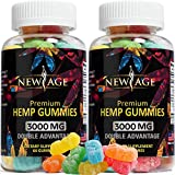 New Age Naturals Advanced Hemp Big Gummies 3000mg -120ct- 100% Natural Hemp Oil Infused Gummies