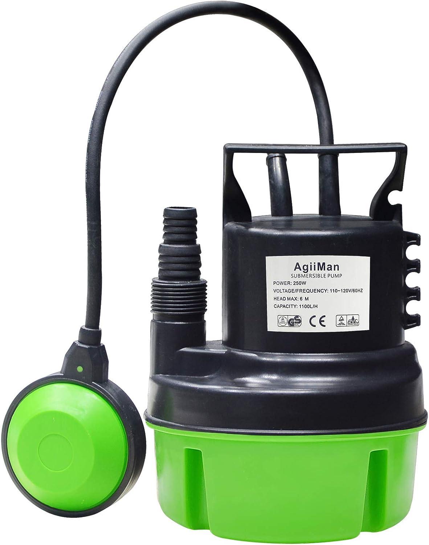AgiiMan 5 ☆ popular Submersible Utility Sump Seasonal Wrap Introduction Pump- Heavy Clean Electric Wate