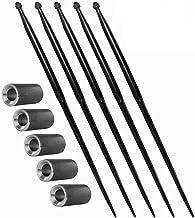 5x 800 mm | M22 | voorladertanden & 5x 38x100 conusbus | grote baltham | tanden | balspies | set | conushuls | bus | inlas...