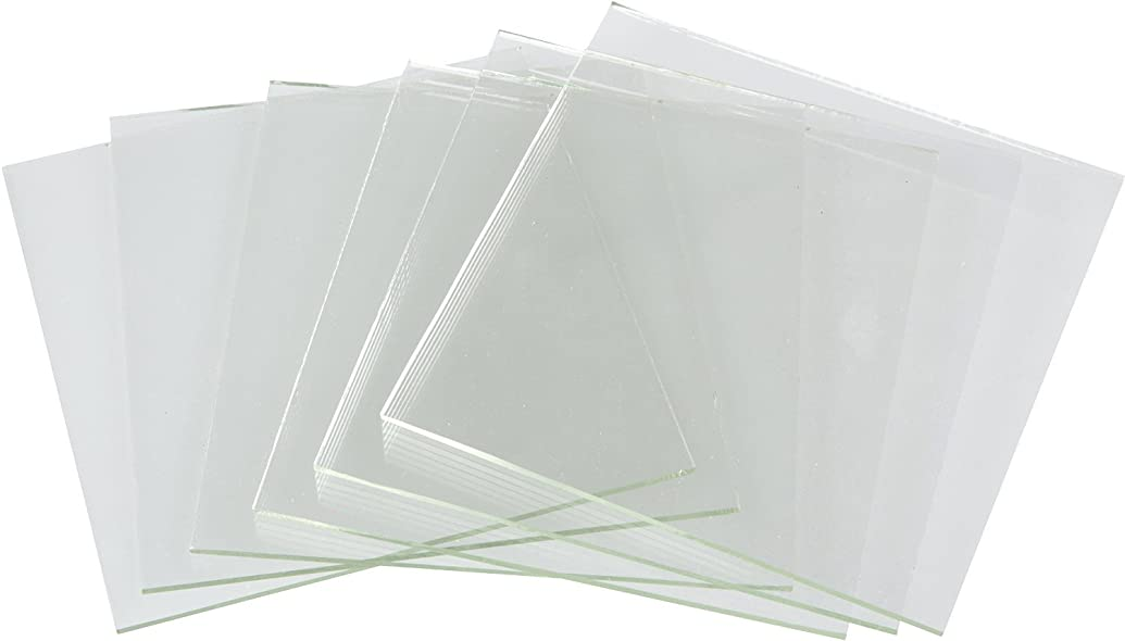 2 Inch Clear Fusible Glass Squares, 90 COE- 6 Pack