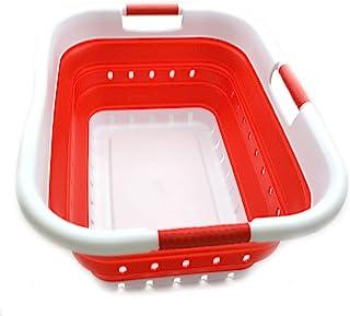 Sammart Panier à linge pliable en plastique – Récipient de rangement/organiseur pliable – Bac à linge portable – Économie ...