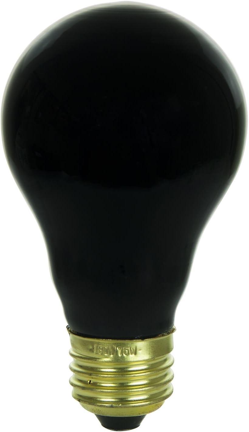 Sunlite 01096-SU 75 Watt A19 店内全品対象 Base Black Light メーカー直送 Medium Bulb