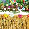 Luau Table Fringe, Hawaiian Tropical Grass Party Decoration (29 Inches x 9 Feet) #1