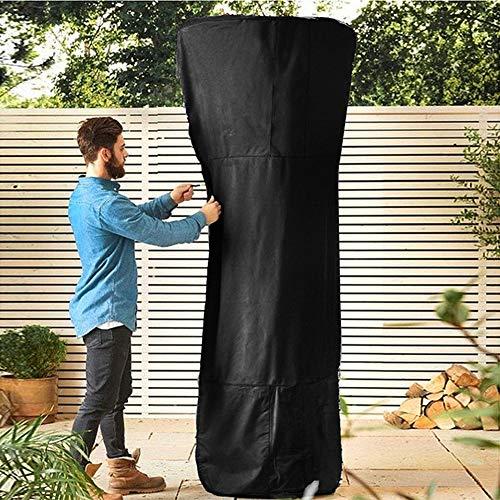 YYWJ Abdeckung für Terrassenheizung, wasserdicht, Polyester, Reißverschluss, Garten, rund, UV-beständig, staubdicht, faltbar