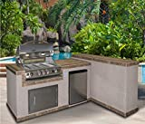 Cal Flame e6026 2-Piece Island and Side Bar with 32 in. Propane Gas...