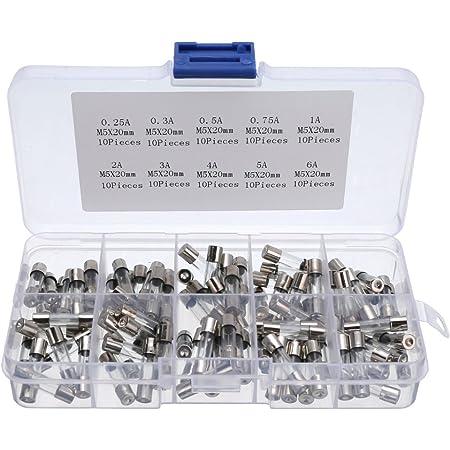 100 Stücke 5x20mm Schnelle Schlag Glassicherung Quick Blow Glasrohrsicherungen Assortierte Kit 0 25a 0 3a 0 5a 0 75a 1a 2a 3a 4a 5a 6a Gewerbe Industrie Wissenschaft