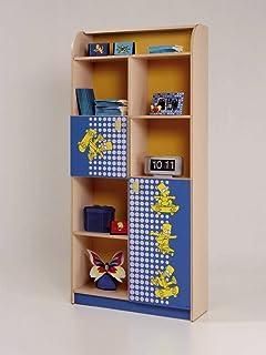 Abitti Estantería o Librería Juvenil Roble y Azul con la Serigrafía de Bart Simpson 80x174