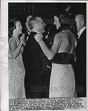 Historic Images - 1965 Press Photo Mrs. John F Kennedy, Gov. John A.Volpe, Benefit, Boston, Mass.