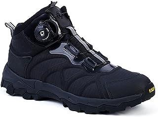[Minghe] サバゲー トレッキングシューズ ダイヤル式 メンズ 撥水 登山靴 衝撃吸収 ミリタリーブーツ ミドルカット 耐磨耗 防滑 軽量 アウトドアシューズ