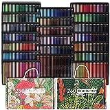520 Crayons de Couleur,Numéroté, Esquisse, Ombrage et Coloration, Ensemble de Crayons de Couleur Pour Enfants, Adultes et Artistes Art Supplies