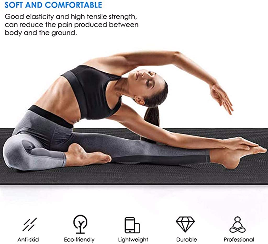 Buy MULIN 50MM Thick Durable EVA Yoga Mat, for Beginners, All Types ...