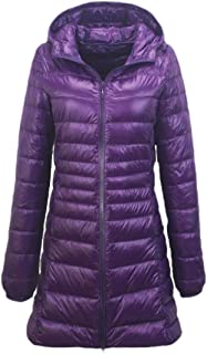 Macondoo Women's Packable Hoodie Plus Size Outwear Puffer Quilted Parkas Coat