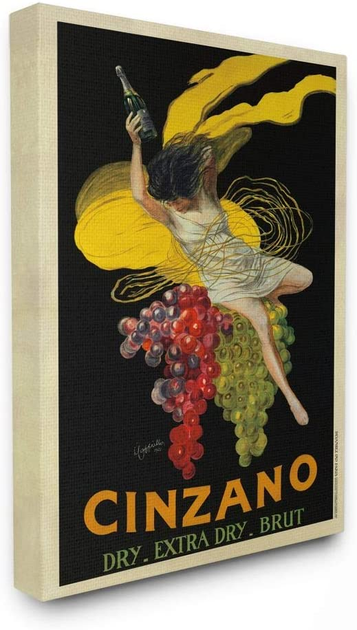 Stupell Industries Cinzano Industry No. 1 Vintage gift Poster Wine Design Marcel by
