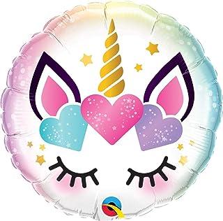 Qualatex Unicorn Eyelashes Foil Balloon, 18-inch Size