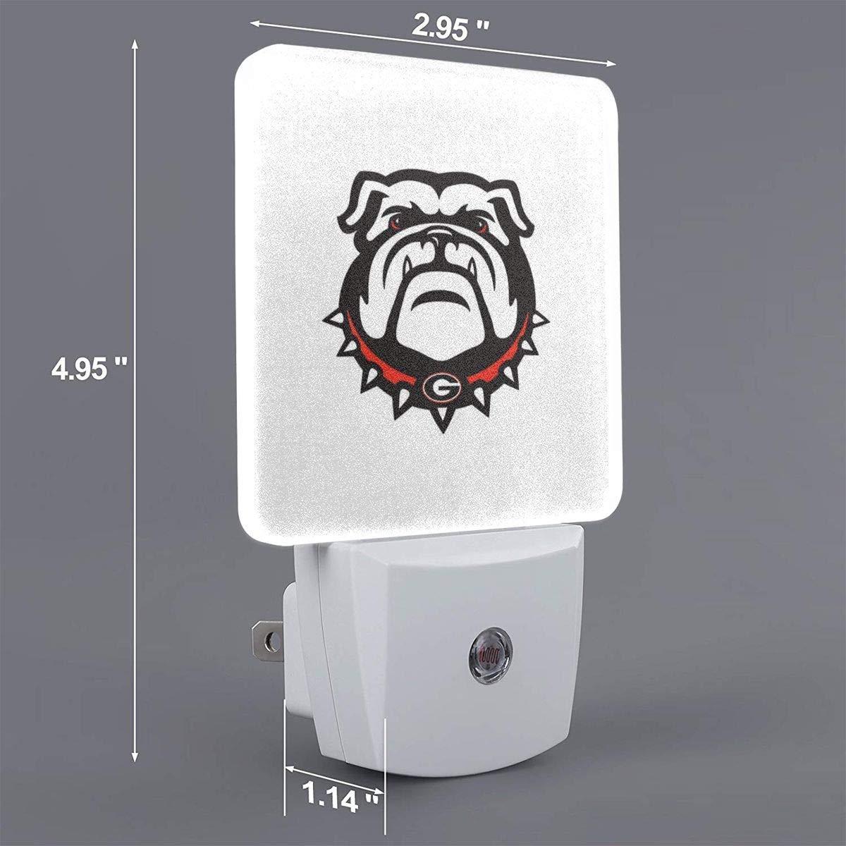 AOTISO Georgia Bulldogs Plug-in Nachtlicht mit Dämmerungssensor