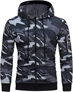 M-3XL ODRD Hoodie Männer Sweatshirt Herren Camouflage Zipper Outwear Sweatjacke Sweater Parka Cardigan Mantel Kapuzenpulli Pullover Jacke Hooded Party Walking