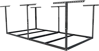 FLEXIMOUNTS 4x8 Overhead Garage Storage Rack without Decking Adjustable Ceiling Garage Rack Heavy Duty, 600lbs Weight Capa...