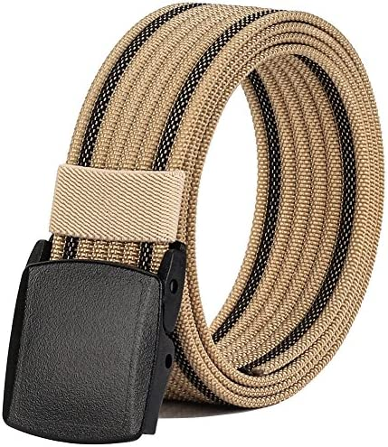 Nylon Belts for Men Military Tactical Belt with YKK Plastic Buckle Durable Breathable Canvas product image